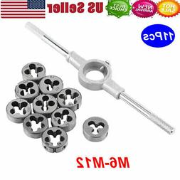 11PCS Metric Adjustable Taps Dies Wrench Handle Tap and Die