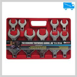 14 Pieces 1/2 Inch Size Drive Crowfoot Wrench Set SAE Jumbo