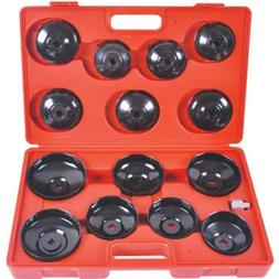15 PCS Cup Type Oil Filter <font><b>Wrench</b></font> <font>
