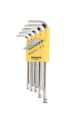 Bondhus 16937 Set of 13 Balldriver L-wrenches, BriteGuard Fi