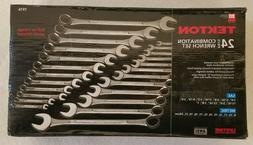 TEKTON #1916 24pc SAE & METRIC COMBINATION WRENCH SET