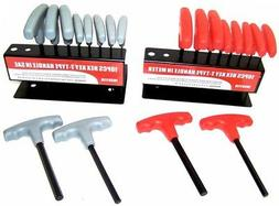 20 pc T Handle Type Hex Key Wrench Set Standard and Metric S