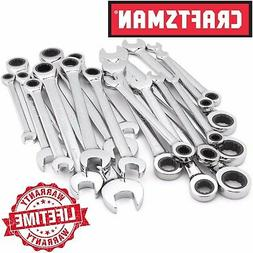 Craftsman 20-Piece Ratchet Combination Wrench Set, Standard