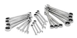 20 piece sae metric combination ratcheting wrench