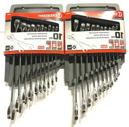 Crescent 20pc Combination Wrench Set SAE Metric 12 Point Wre