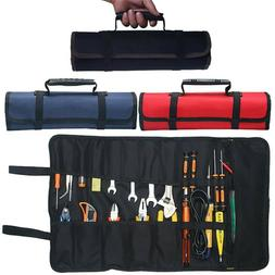 22 Pocket Spanner Wrench Tool Storage Bag Portable Roll Up C