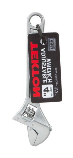 TEKTON 23001 4-Inch Adjustable Wrench