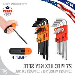 26 pc allen wrench hex key set