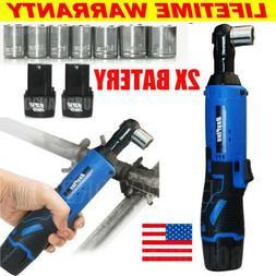 3/8'' Cordless Ratchet Right Angle Wrench Impact Power Tool