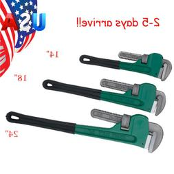3pc Heavy Duty Grip Pipe Wrench Aluminum Plumbing Wrenches 1
