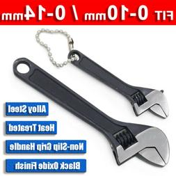 """4"""" 100mm Mini Adjustable Wrench 14mm Opening Spanner Alloy S"""