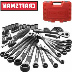 Craftsman 56 Pc Universal Mechanics Tool Set Socket Wrench S