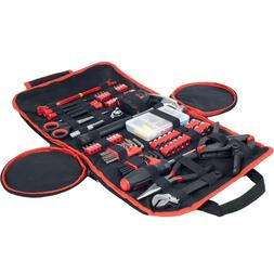 Household Hand Tools, 86 Piece Tool Set With Roll-Up Bag by