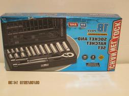 Channellock 38181 18 piece 3/8 Drive SAE Socket Set