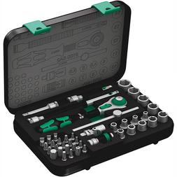 "Wera 8100 SA 2 Zyklop Ratchet Set 1/4"" Drive, SAE, 41-Piece"