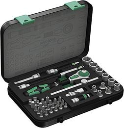 "Wera 8100 SA 4 Zyklop Ratchet Set with 1/4"" Drive, 41-Piece"