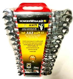 GearWrench 9702 13 Piece Flex-Head Combination Ratcheting Wr