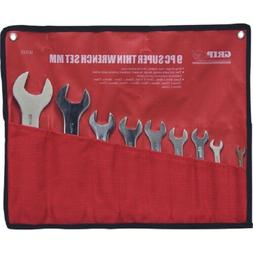 9pc thin metric wrench set tools wrenches
