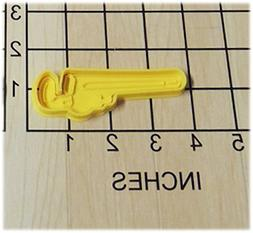 Pipe Wrench Tool Shaped Cookie Cutter and Stamp #1199