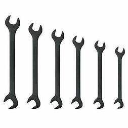 6 Pc Neiko Black Oxide Jumbo Angle Wrench Set SAE Standard H