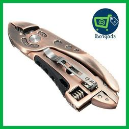 DANIU Bronzed Multitool Adjustable Wrench Jaw+Screwdriver+Pl