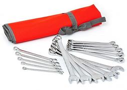 Crescent CCWS5 Metric Combination Wrench Set with Roll Pouch