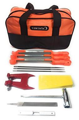 """Cataumet Chainsaw Sharpener File Kit - Includes 5/32"""", 3/16"""""""