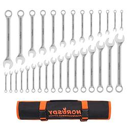 HORUSDY 30-Piece Combination Wrench Set, Inch/Metric, 6 mm -