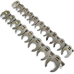 """Crowfeet Wrench Crow Foot Spanner 3/8"""" dr Metric and Imperia"""