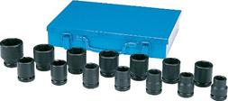"3/4"" Drive 14 Piece SAE Impact Socket Set"