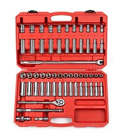 58-pc. 1/2 in. Drive Socket Set  6 pt. TEKTON 13201