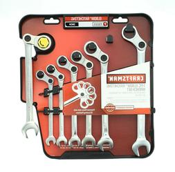 Craftsman 7 Piece Elbow Ratcheting Wrench Set, Inch