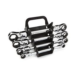 Flex-Head Ratcheting Box End Wrench Set with Store and Go Ke