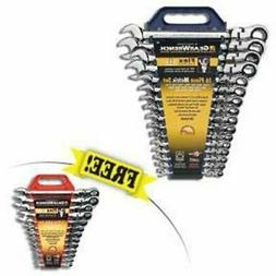 Gearwrench 16 Pc Metric Flex Head Wrench Set 9902 FREE SAE F