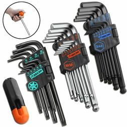 hex key allen wrench set sae metric