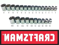 "Craftsman 25 Piece 3/8"" Inch Drive Socket Set"