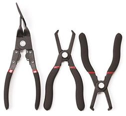 KD Tools 41850 3-Piece Body Clip Pliers Set