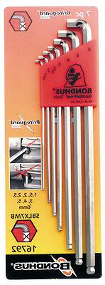 Bondhus 16792 Stubby Ball End Tip Hex Key L-Wrench Set with