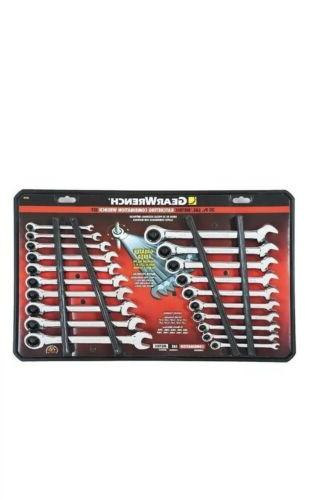 20pc sae metric ratcheting combination wrenches standard