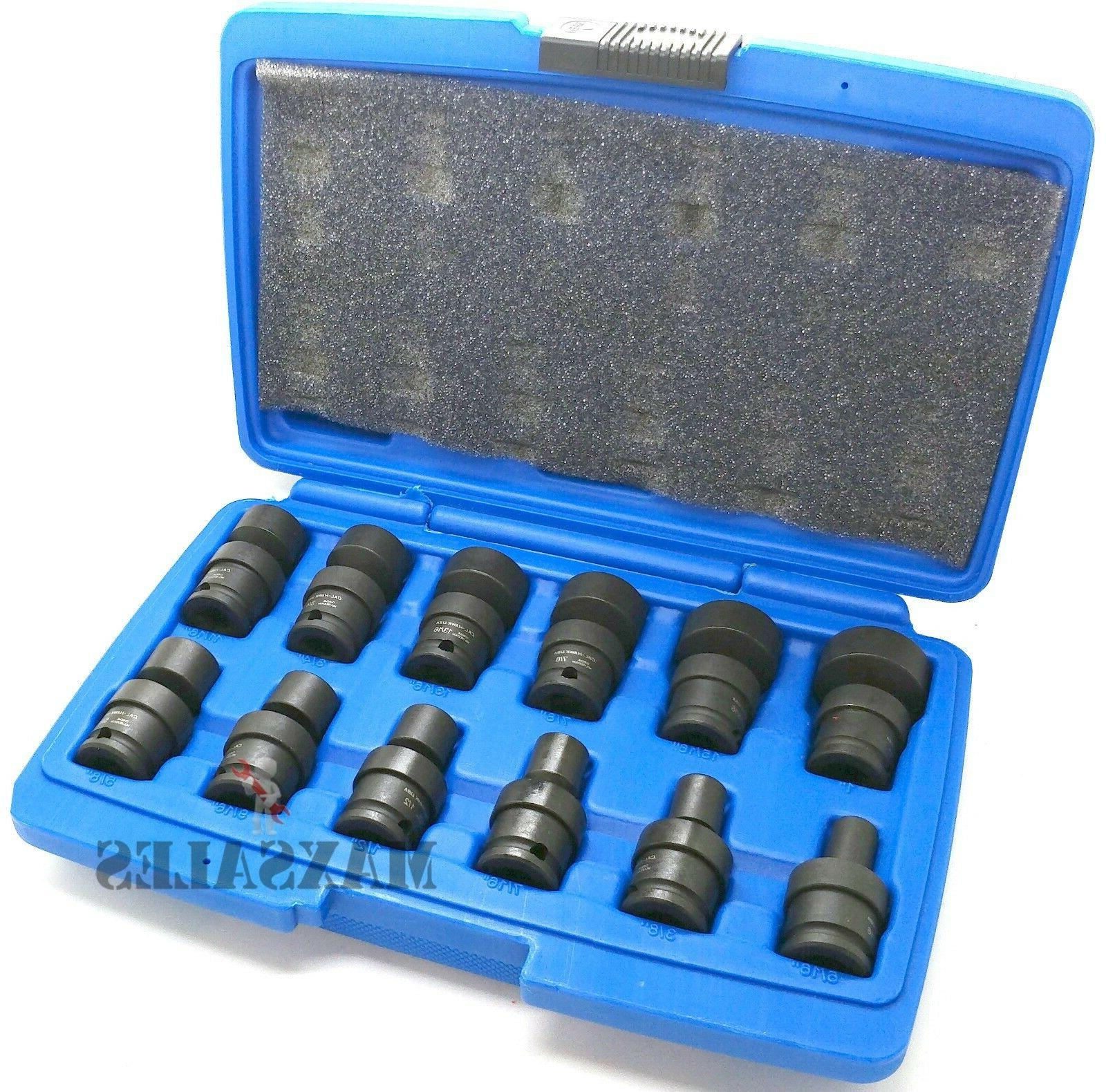 "24 PC 3/8"" 1/4"" DR. IMPACT SWIVEL SOCKET SAE/MM SET"