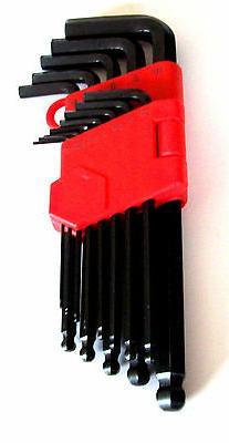 13pc ALLEN BALL POINT END LONG ARM HEX KEY WRENCH SET