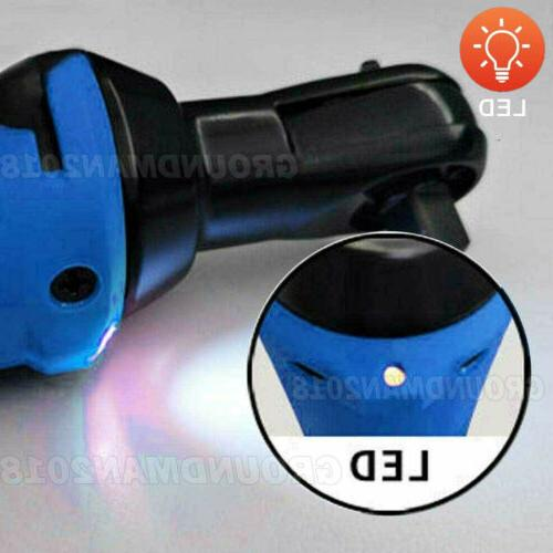 3/8'' Right Angle Wrench Impact Power Tool Battery 7 Socket