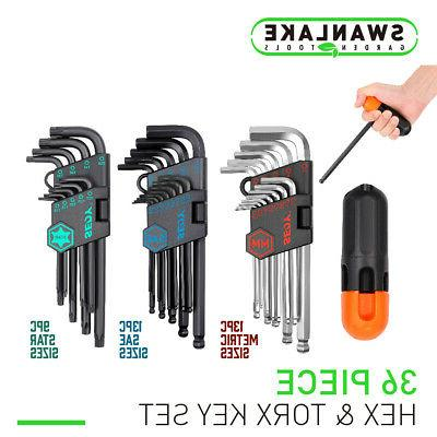 35pc hex key allen wrench set ball
