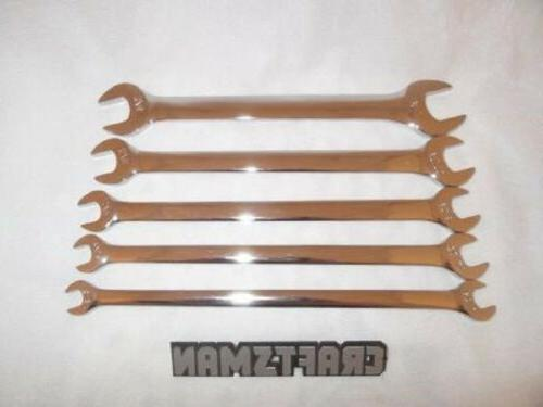 5pc sae polished tappet wrench set tools
