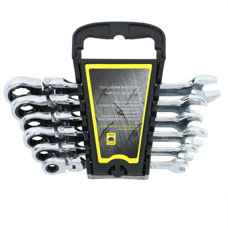 6PCS Wrench Ratcheting Wrench Flexible Metric Set