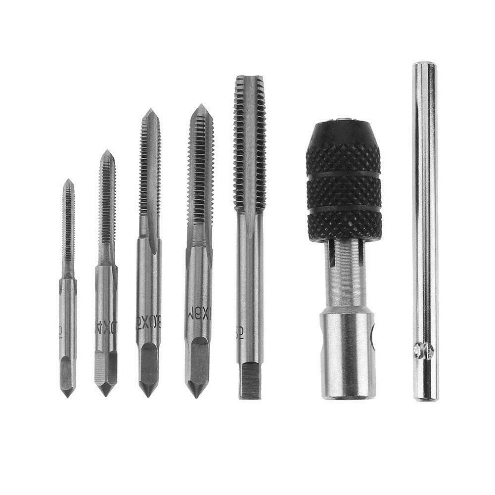 6pcs T-type Machine Screw Thread Tap Wrench M3/M4/M5/M6/M8 T