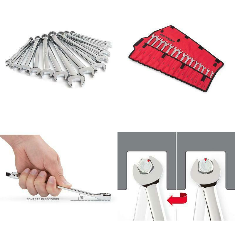 combination wrench set with roll up storage