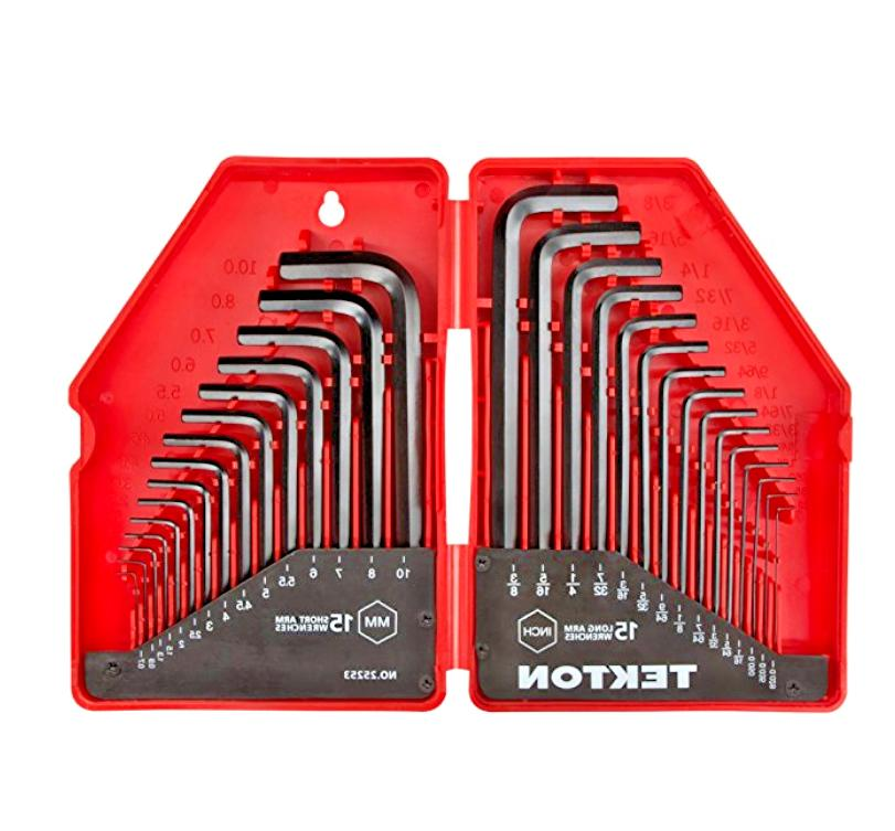 free shipping hex key wrench set inch