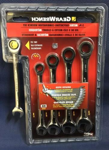 gearwrench combination ratcheting wrench set