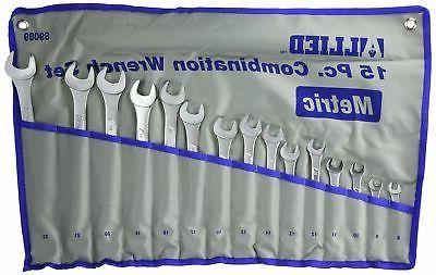 metric combination wrench set w
